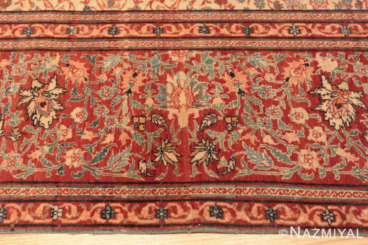 Border Fine and intricate antique Tabriz carpet 50312 by Nazmiyal