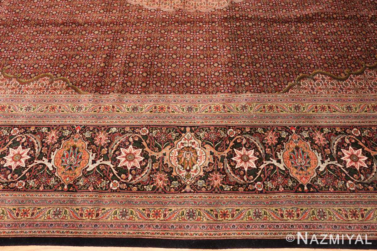 Border Large Vintage Persian Tabriz rug 50316 by Nazmiyal