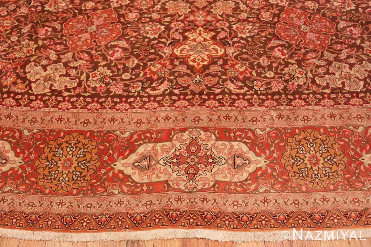 Border Silk and wool room sized Tabriz Persian carpet 50251 by Nazmiyal