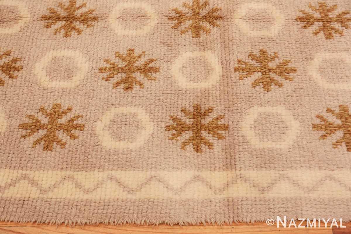 Border Vintage Swedish Rya rug 48506 by Nazmiyal