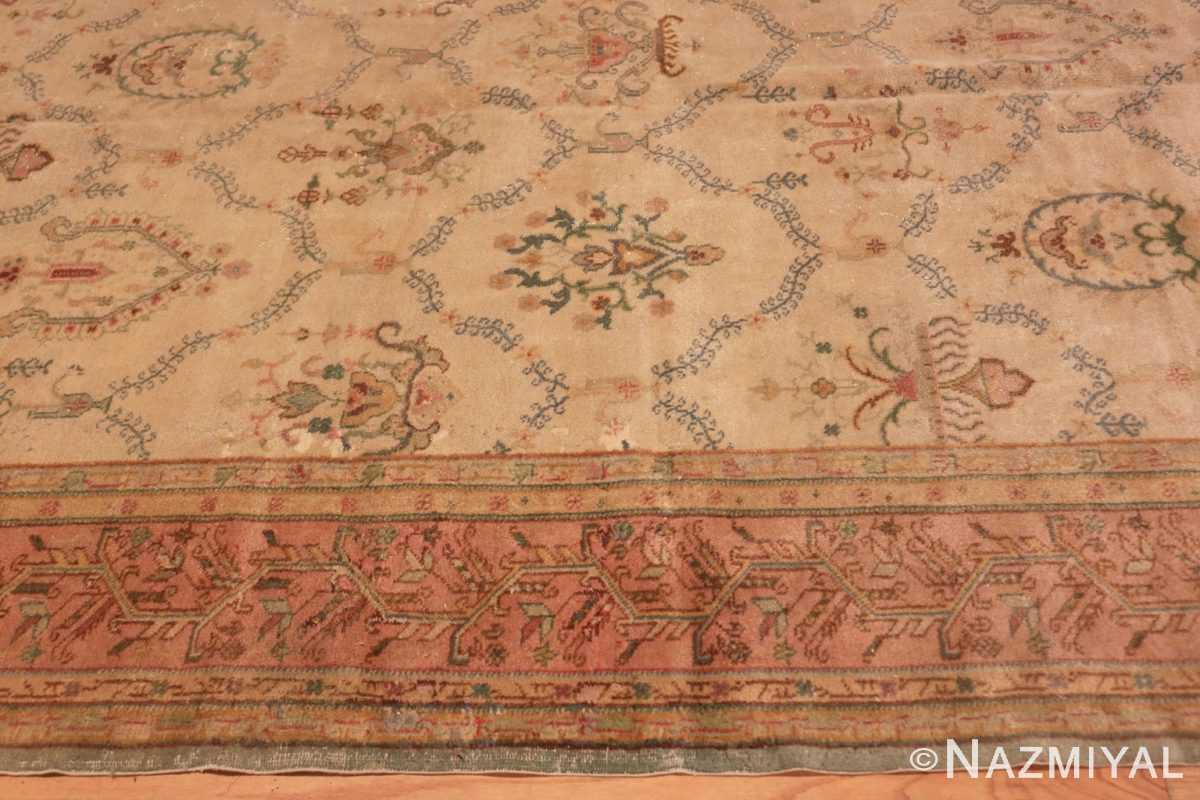 Border Vintage Turkish Sivas carpet 50327 by Nazmiyal Antique Rugs in NYC