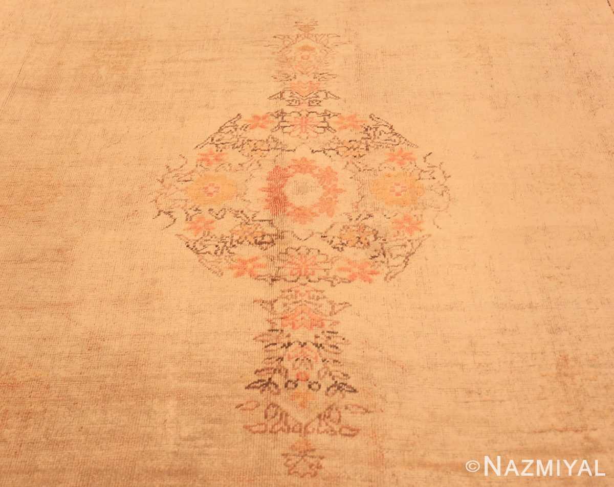 Center Antique Oushak room sized Turkish rug 50299 by Nazmiyal
