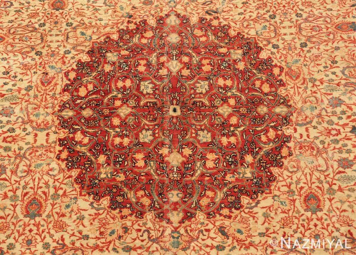 Center Fine and intricate antique Tabriz carpet 50312 by Nazmiyal