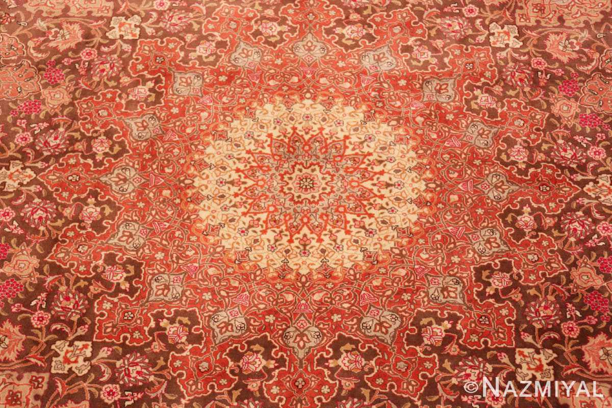 Center Silk and wool room sized Tabriz Persian carpet 50251 by Nazmiyal