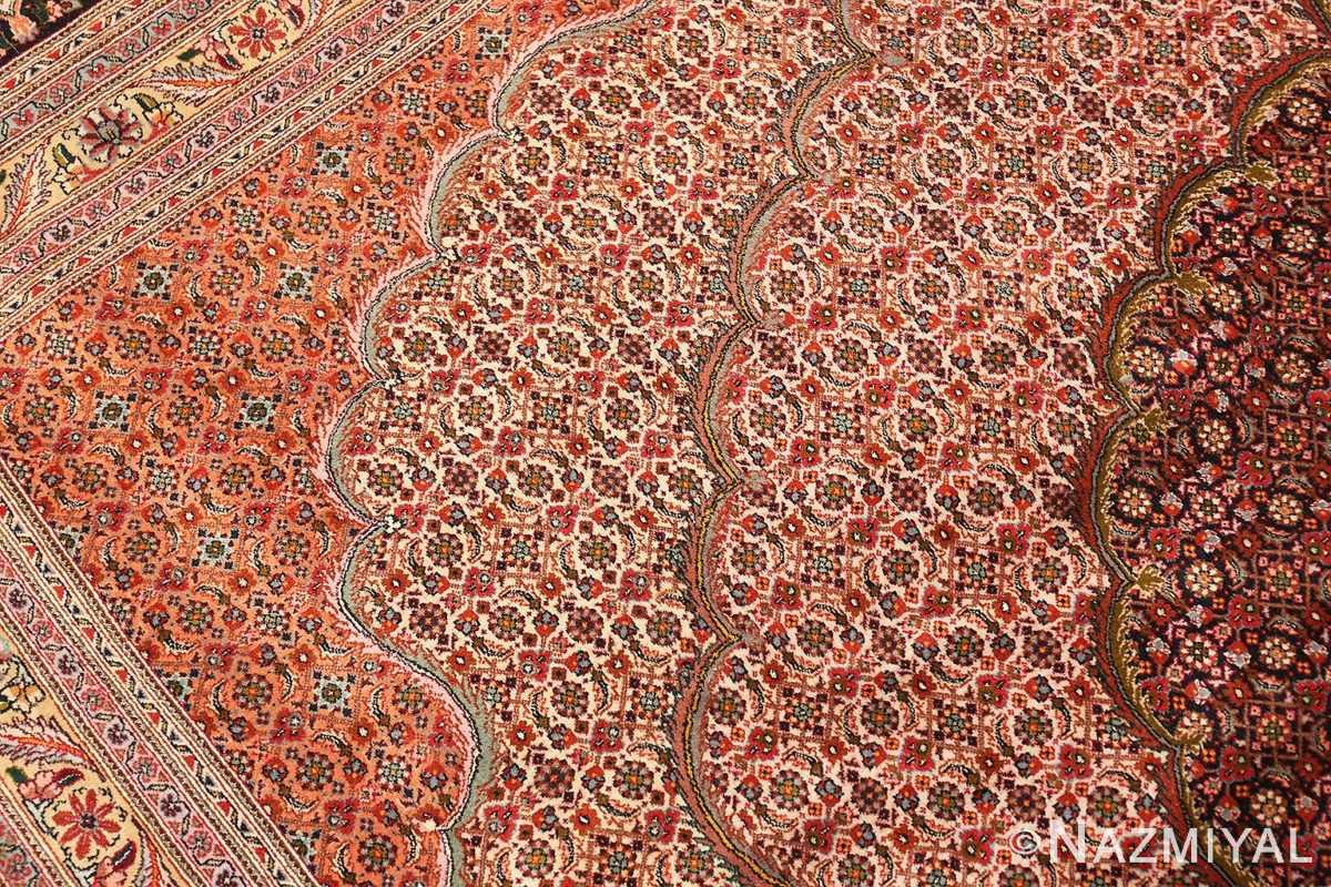 Close-up Large Vintage Persian Tabriz rug 50316 by Nazmiyal
