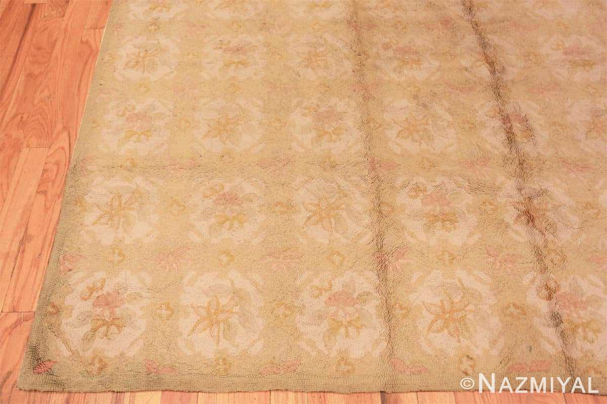 Corner Antique floral design American hooked rug 50298 by Nazmiyal Antique Rugs in NYC