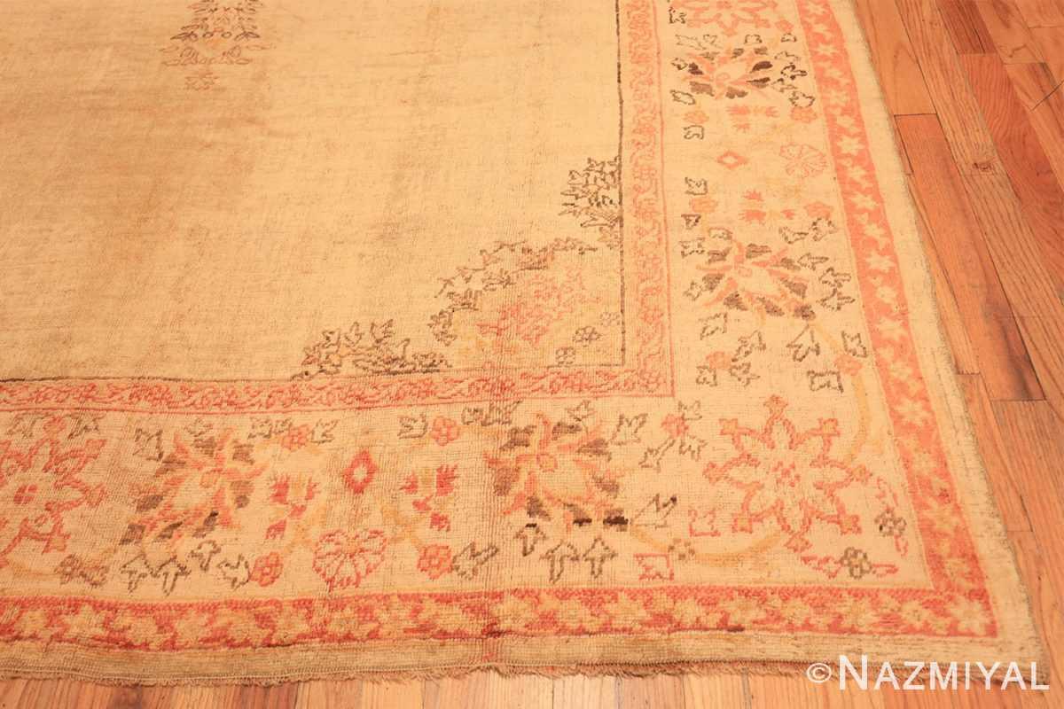 Corner Antique Oushak room sized Turkish rug 50299 by Nazmiyal