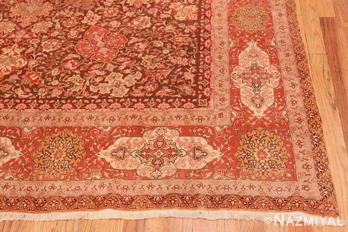 Corner Silk and wool room sized Tabriz Persian carpet 50251 by Nazmiyal