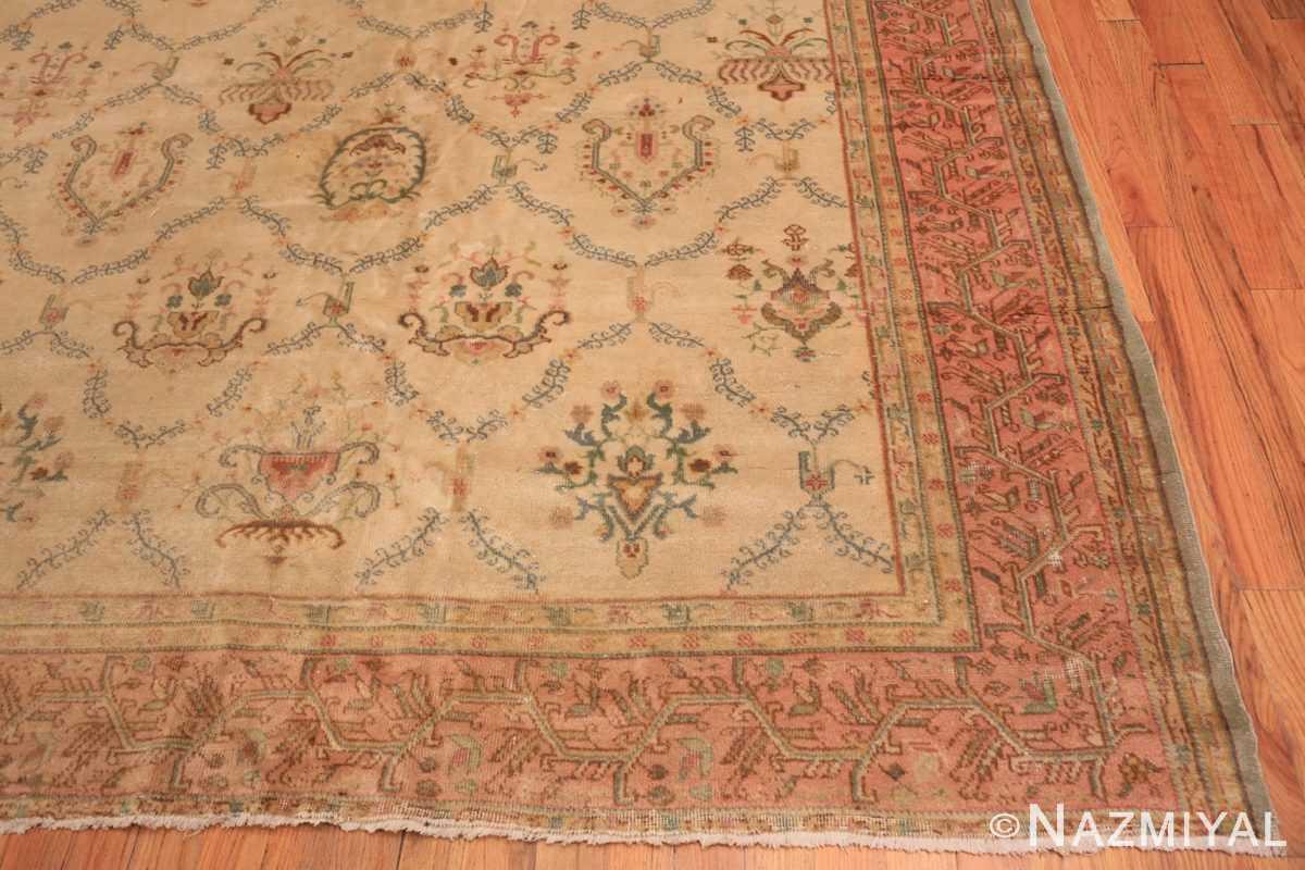Corner Vintage Turkish Sivas carpet 50327 by Nazmiyal Antique Rugs in NYC