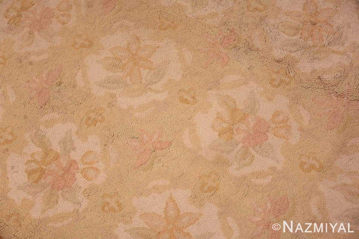 Detail Antique floral design American hooked rug 50298 by Nazmiyal Antique Rugs in NYC