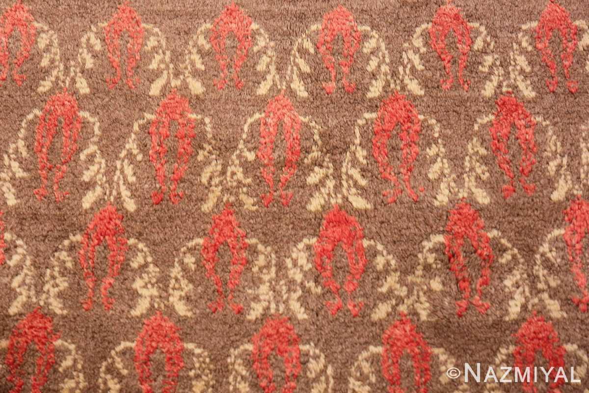 Detail Art Deco Turkish rug 50334 by Nazmiyal