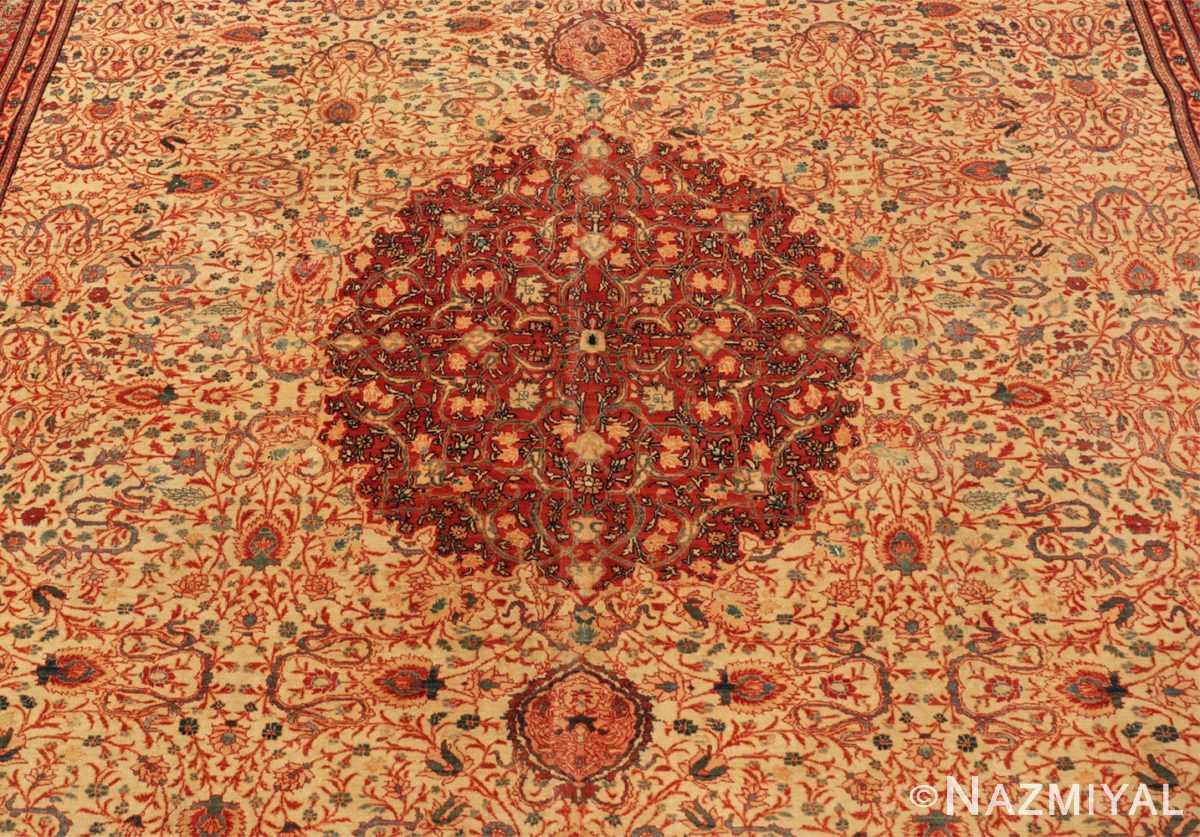 Field Fine and intricate antique Tabriz carpet 50312 by Nazmiyal