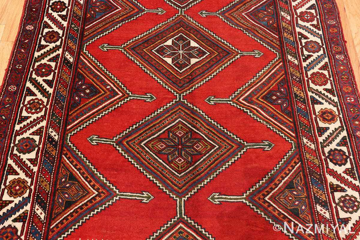 Field Antique red color Persian Ghashgai runner rug 50301 by Nazmiyal