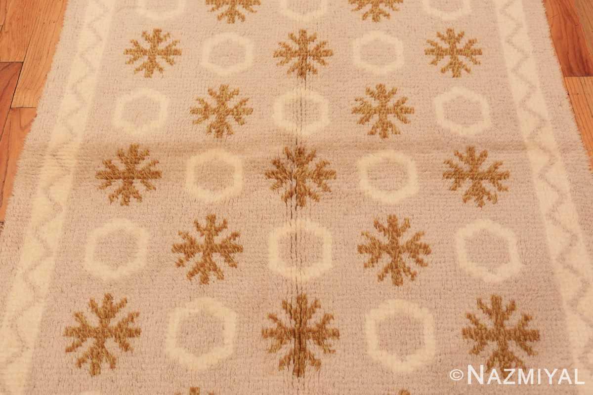 Field Vintage Swedish Rya rug 48506 by Nazmiyal
