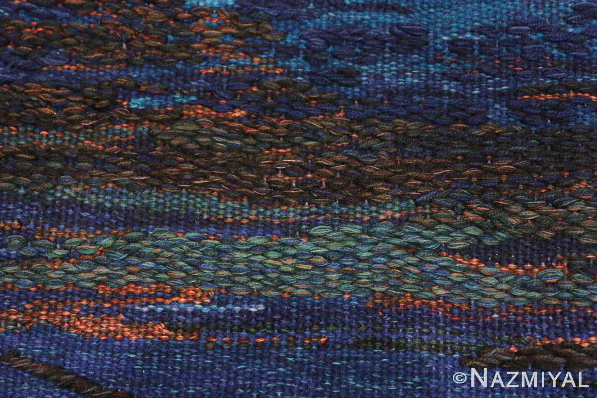 Field vintage Scandinavian Was at sea designed by Brita Molin carpet 48514 from Nazmiyal antique rugs collection