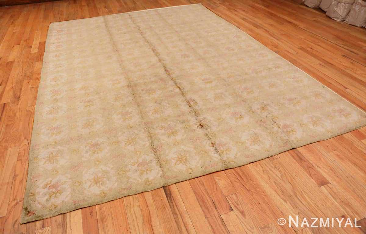 Full Antique floral design American hooked rug 50298 by Nazmiyal Antique Rugs in NYC