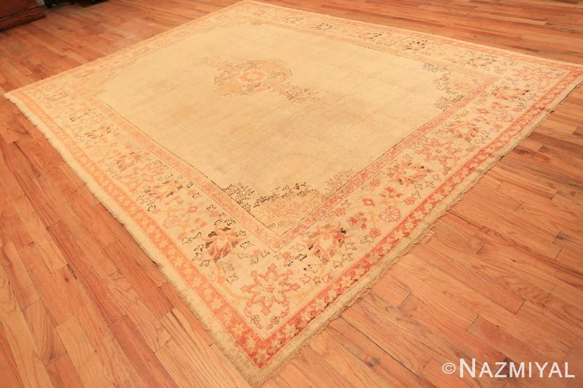 Full Antique Oushak room sized Turkish rug 50299 by Nazmiyal