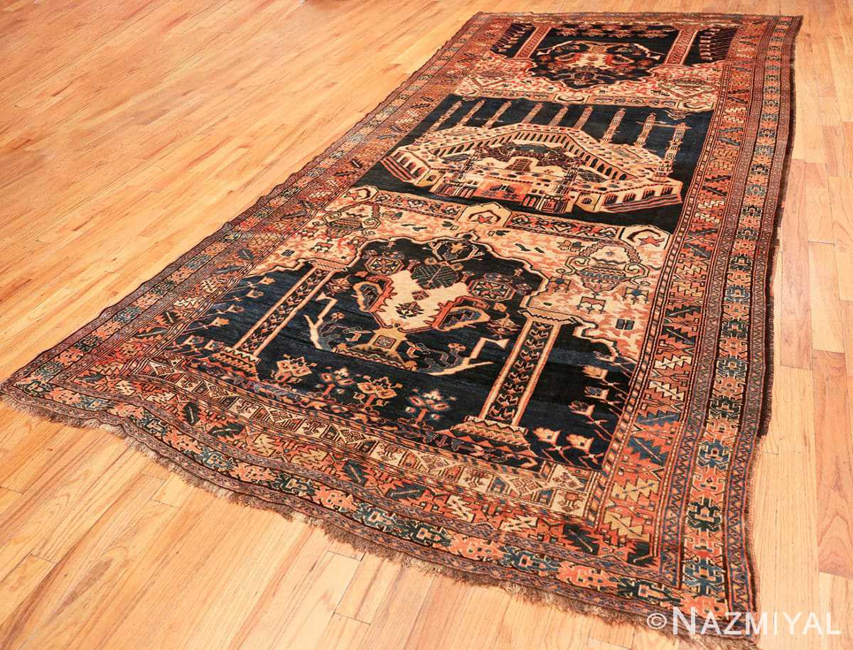 Full Antique Persian Kourdish carpet 50266 by Nazmiyal