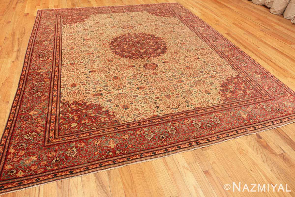 Full Fine and intricate antique Tabriz carpet 50312 by Nazmiyal
