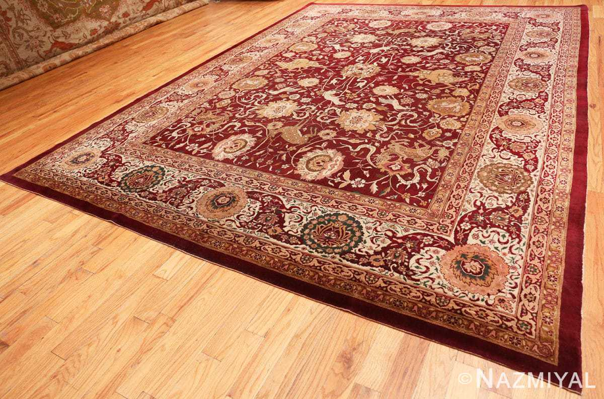 Full Room size Antique Indian agra rug 50250 by Nazmiyal