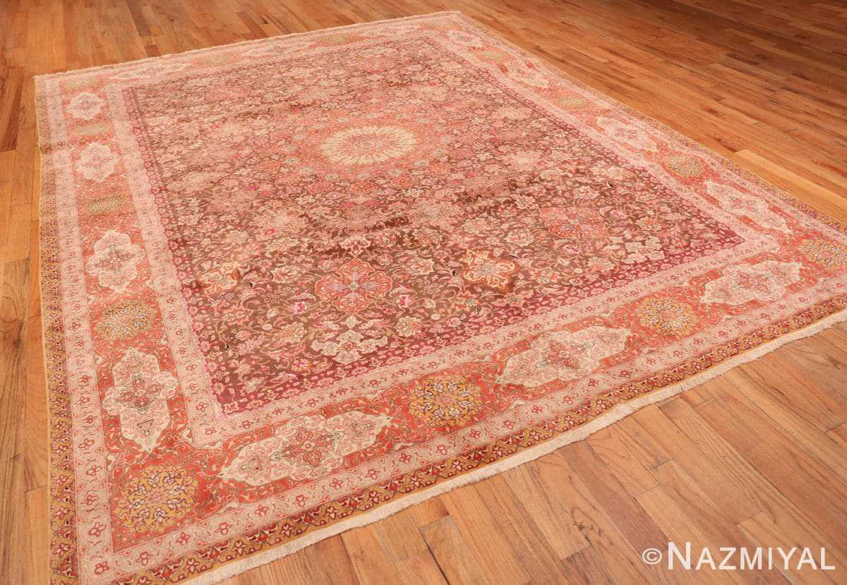 Full Silk and wool room sized Tabriz Persian carpet 50251 by Nazmiyal