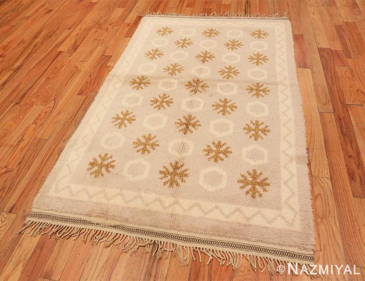 Full Vintage Swedish Rya rug 48506 by Nazmiyal