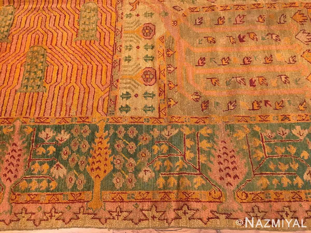 large garden design antique turkish oushak carpet 50085 border Nazmiyal