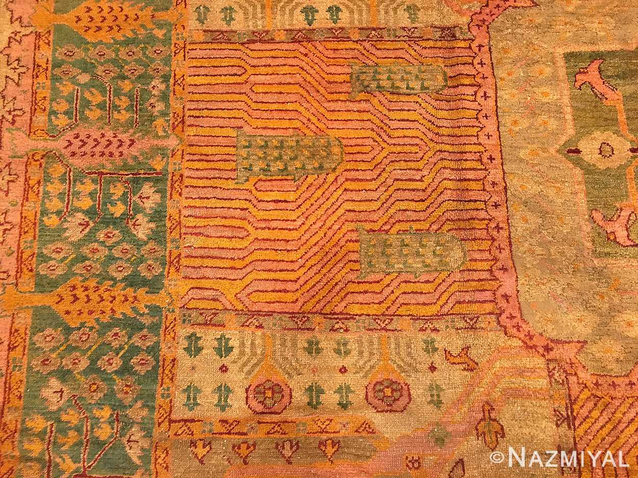 Large Garden Design Antique Oushak Carpet 50085 By Nazmiyal