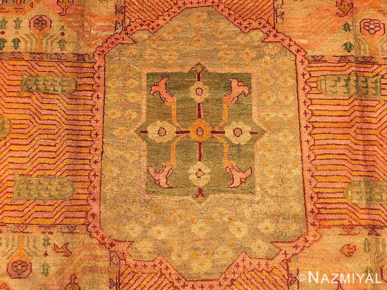 large garden design antique turkish oushak carpet 50085 field Nazmiyal