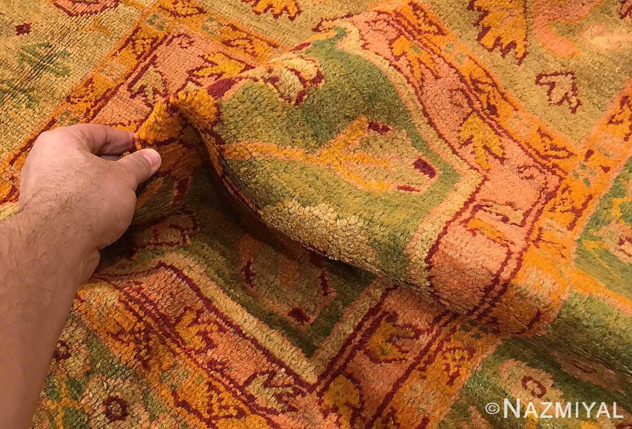 large garden design antique turkish oushak carpet 50085 pile Nazmiyal