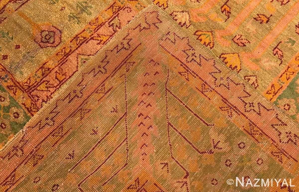 large garden design antique turkish oushak carpet 50085 weave Nazmiyal