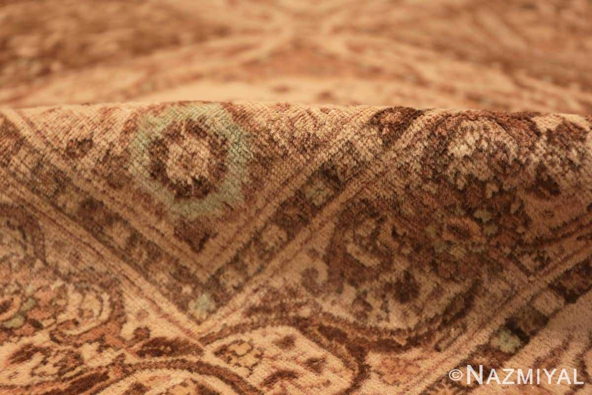 Pile Antique Tabriz garden design Persian rug 50258 by Nazmiyal
