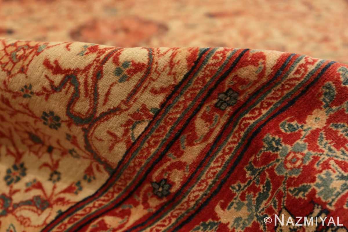 Pile Fine and intricate antique Tabriz carpet 50312 by Nazmiyal