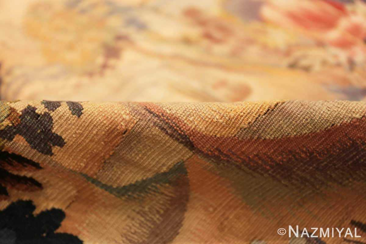 Pile Silk and wool Antique French Romantic tapestry 50279 by Nazmiyal