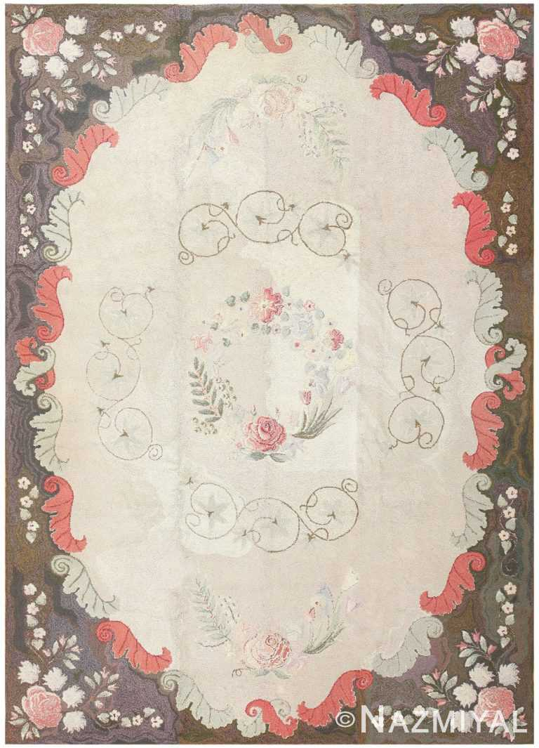 Room Sized Antique American Hooked Rug 50292 Nazmiyal