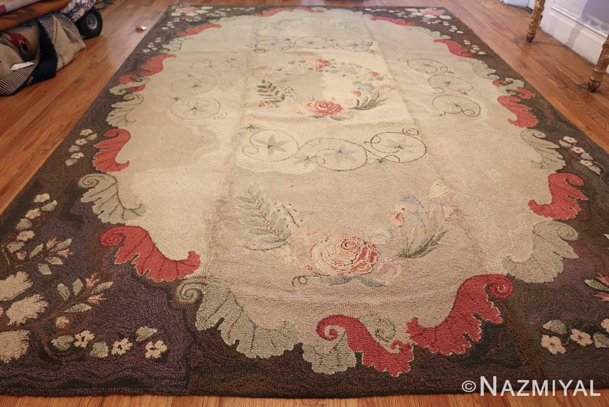 room sized antique american hooked rug 50292 whole Nazmiyal
