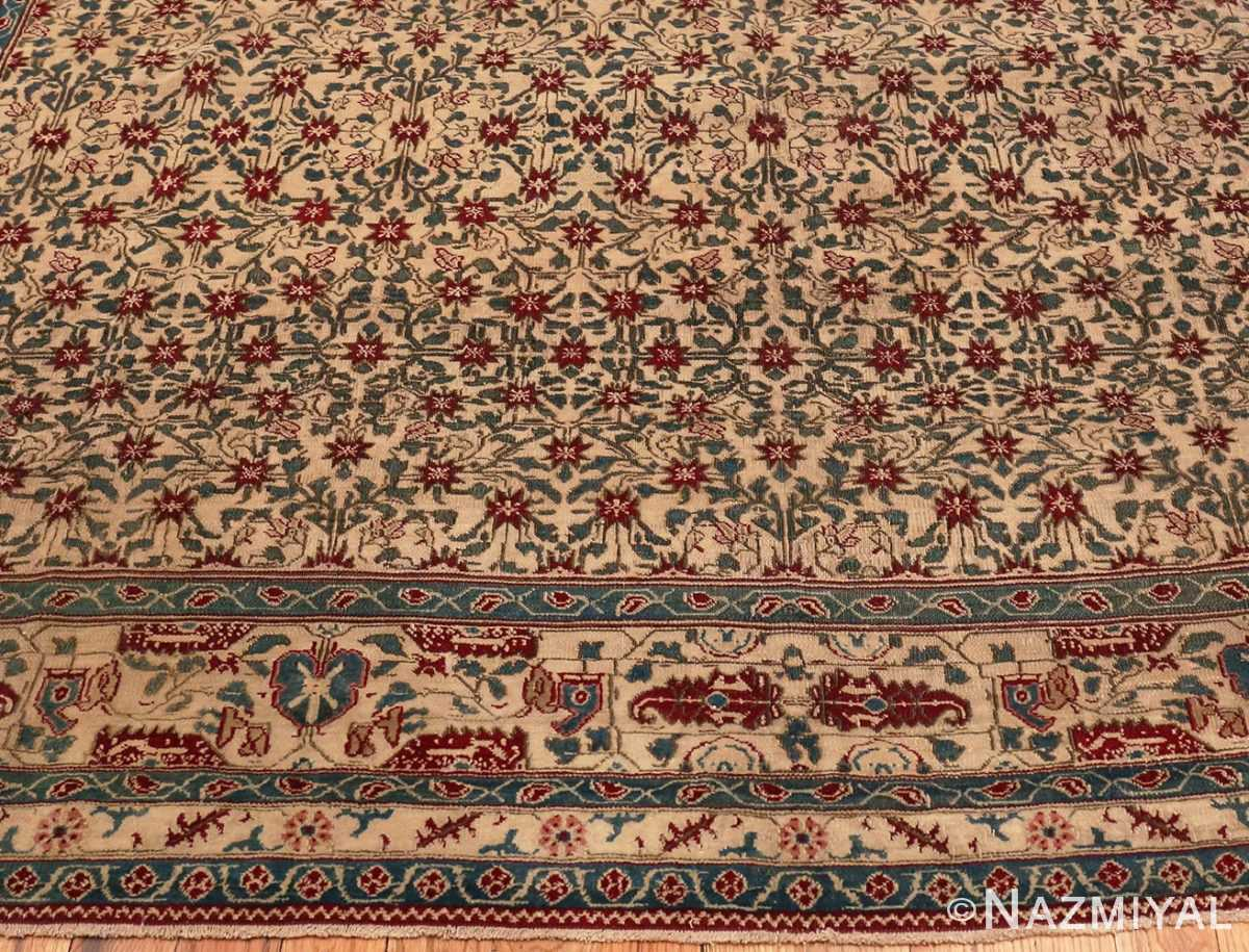 Picture of the border of Room Sized Antique Indian Agra Rug 50180