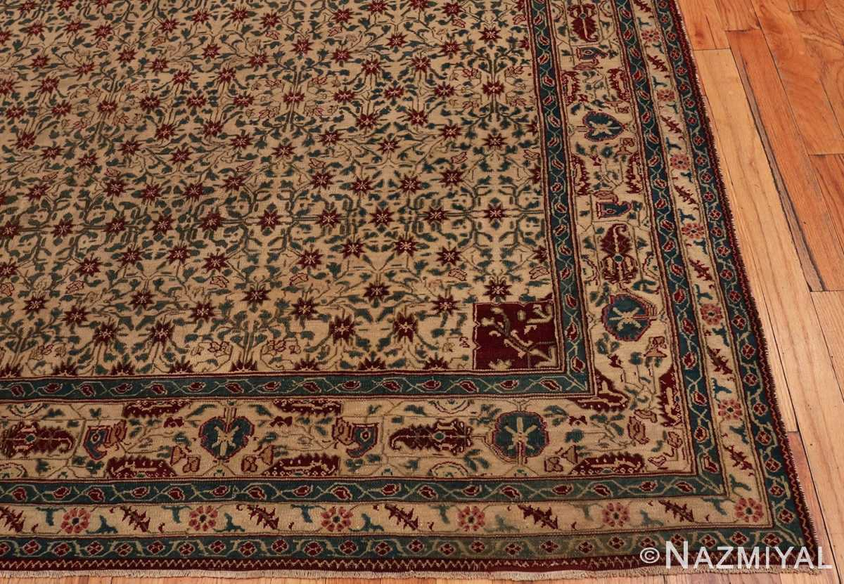 Picture of the corner of Room Sized Antique Indian Agra Rug 50180