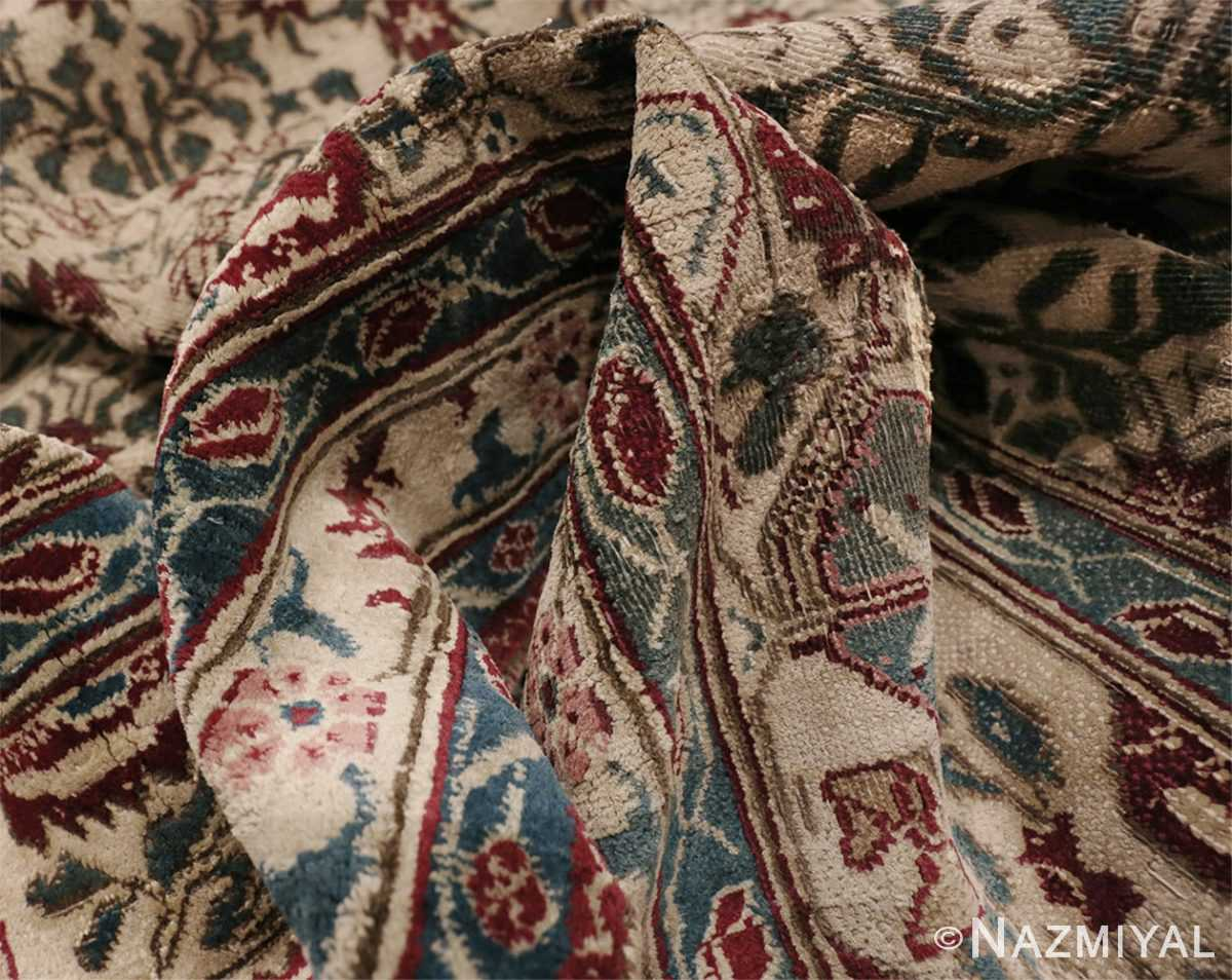 Picture of texture of Room Sized Antique Indian Agra Rug 50180