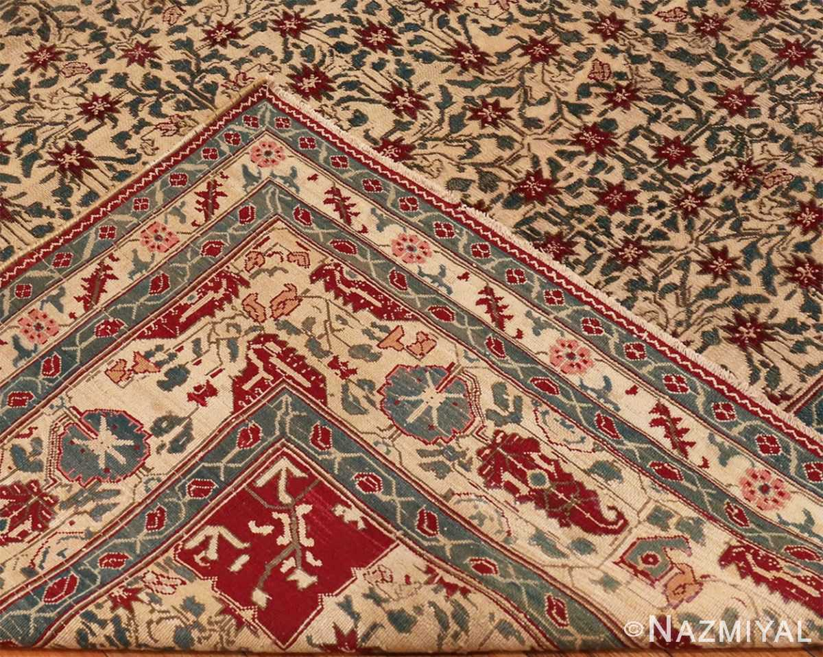 Picture of weave of Room Sized Antique Indian Agra Rug 50180