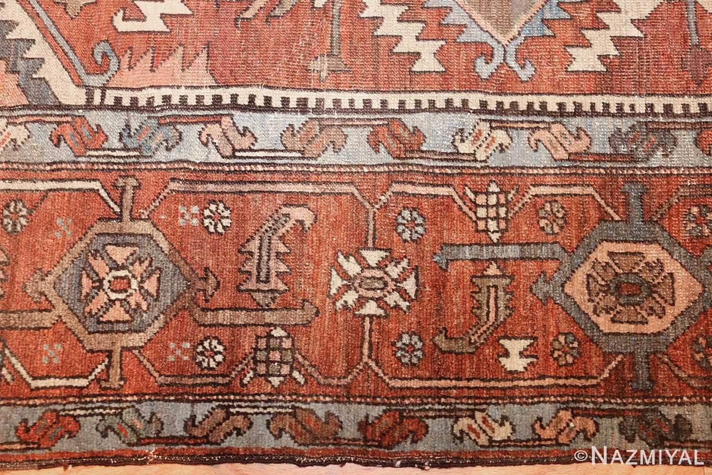 room sized antique persian serapi carpet 50016 border Nazmiyal