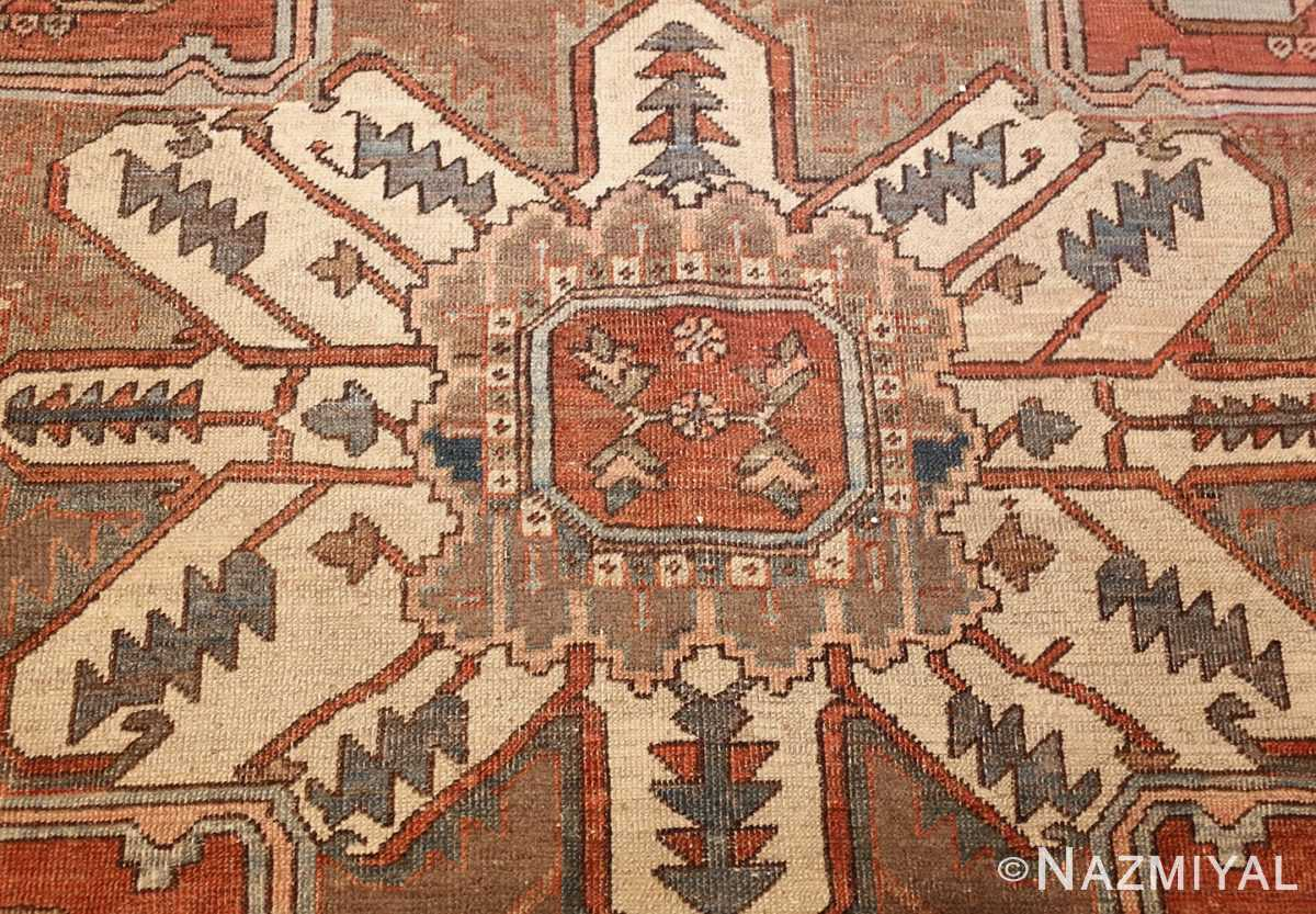 room sized antique persian serapi carpet 50016 center Nazmiyal