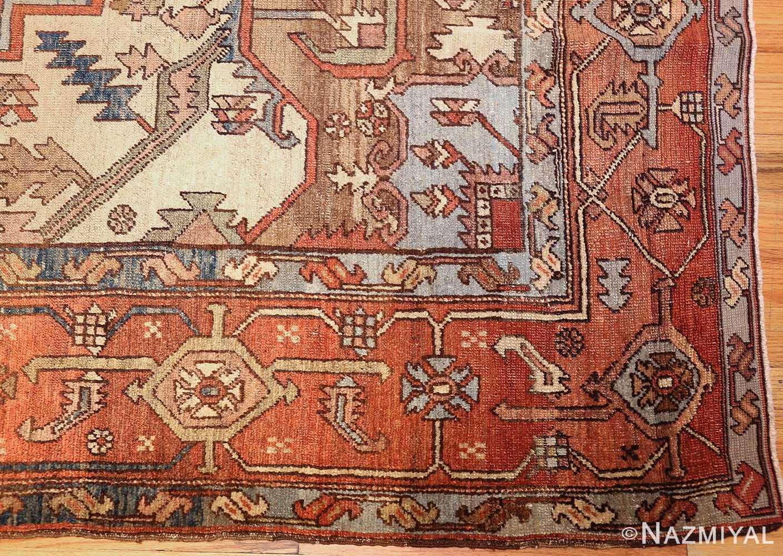 room sized antique persian serapi carpet 50016 corner Nazmiyal