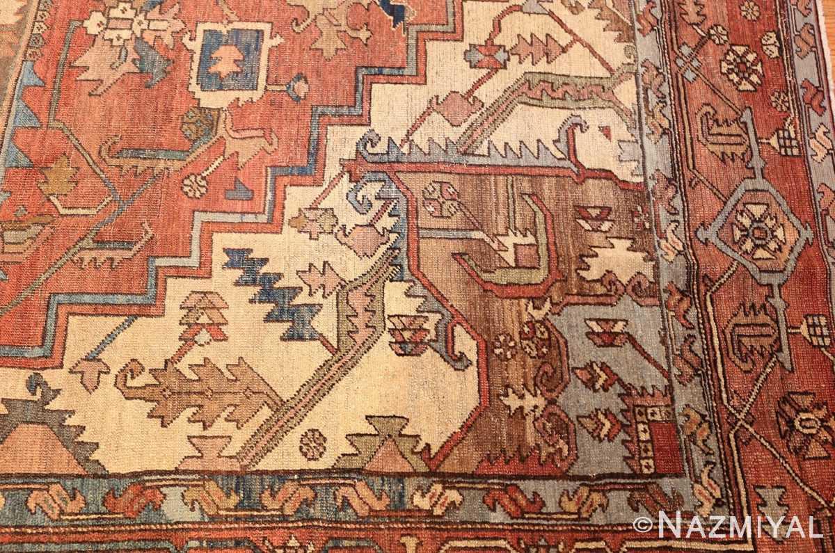 room sized antique persian serapi carpet 50016 design Nazmiyal