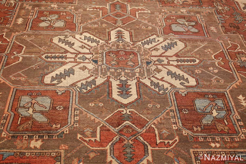 room sized antique persian serapi carpet 50016 medallion Nazmiyal