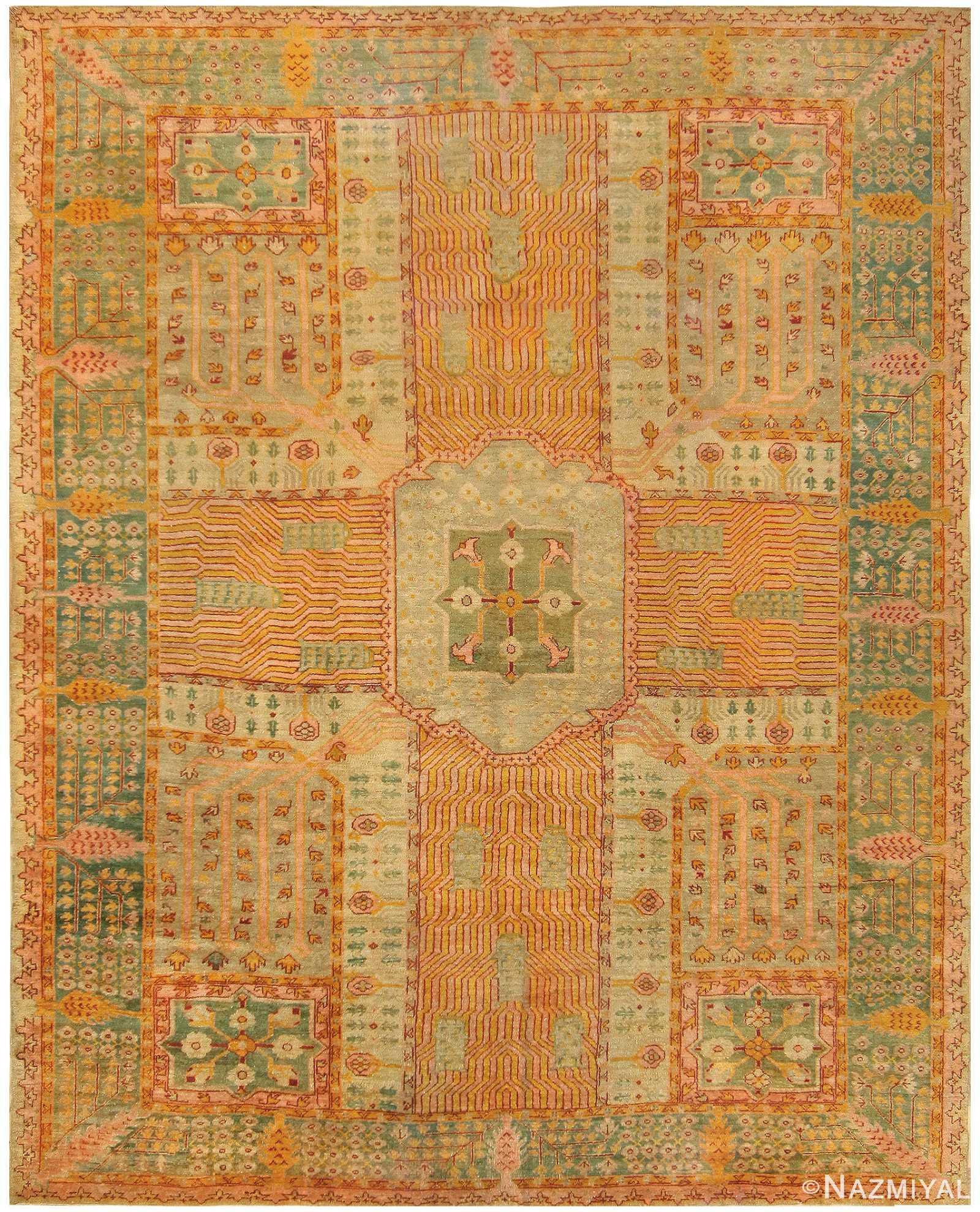Room Sized Antique Turkish Oushak Carpet 50085 Nazmiyal