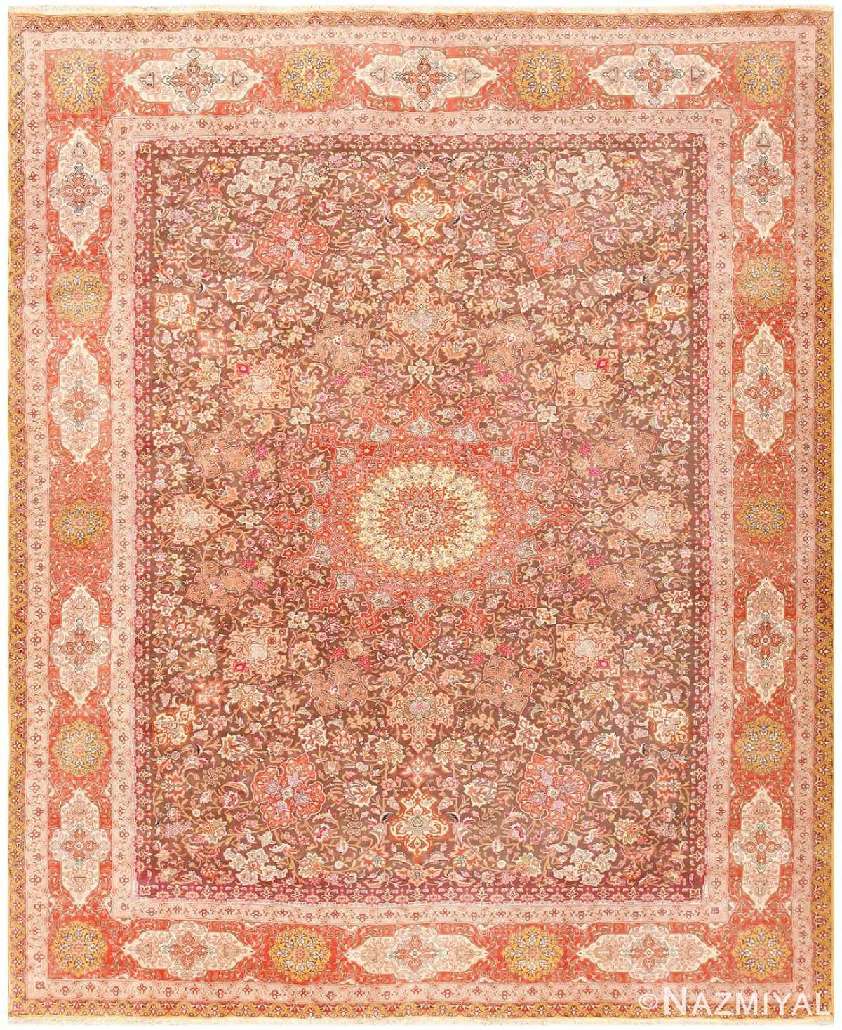 Silk and Wool Room Sized Tabriz Persian Carpet 50251 Nazmiyal
