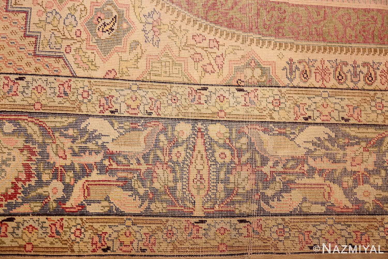 silk antique keysari turkish rug 50245 border Nazmiyal