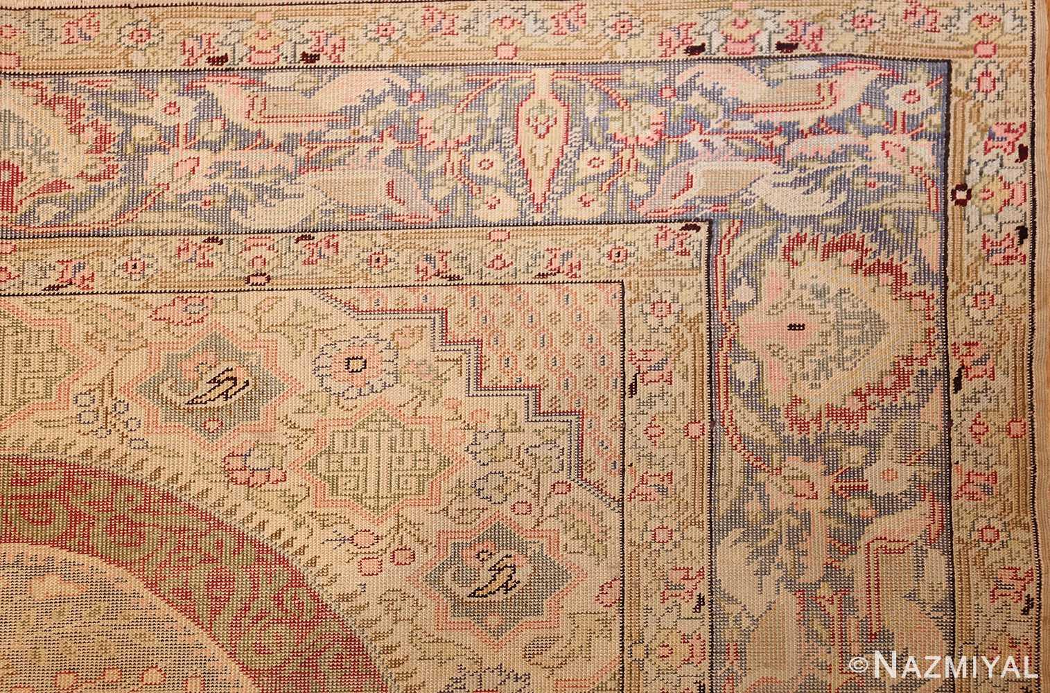 silk antique keysari turkish rug 50245 corner Nazmiyal