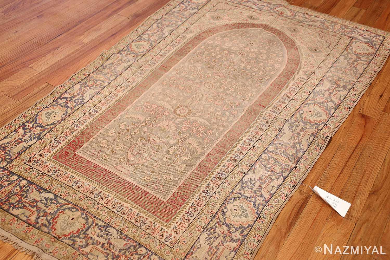 silk antique keysari turkish rug 50245 side Nazmiyal